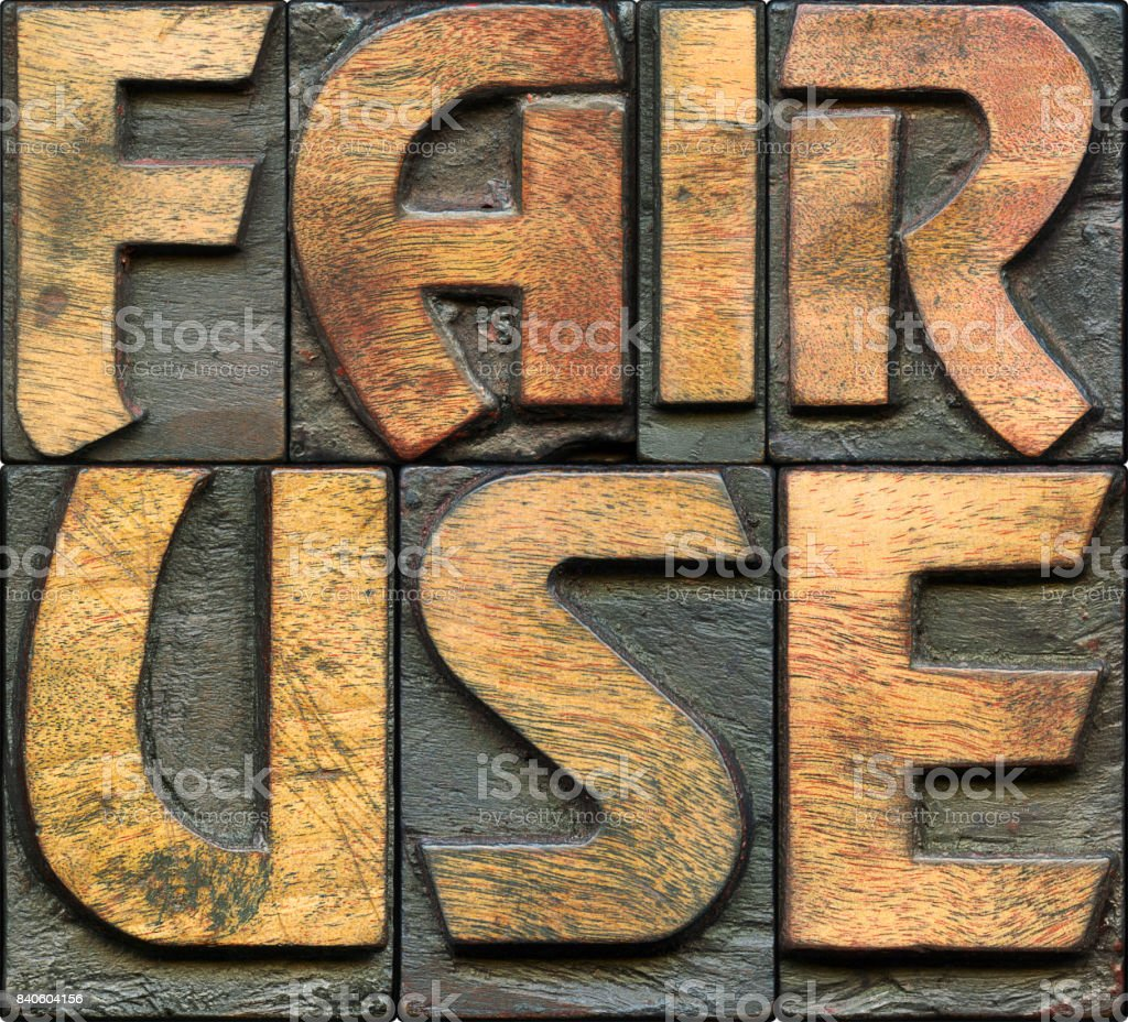 FAIR USE wooden letterpress stock photo