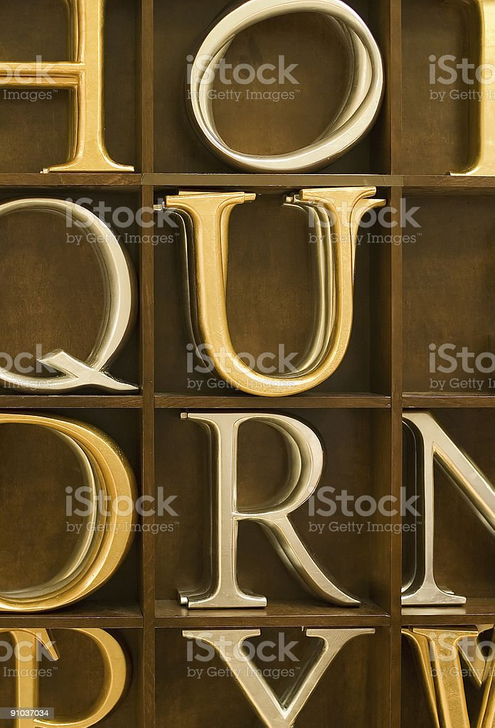 wooden letters 3 royalty-free stock photo
