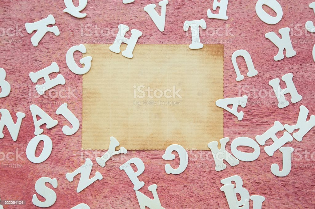 Wooden letters - background stock photo
