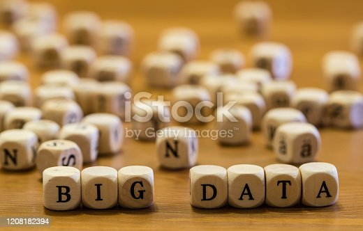 1054713428 istock photo Wooden Letters Big Data Macro 1208182394