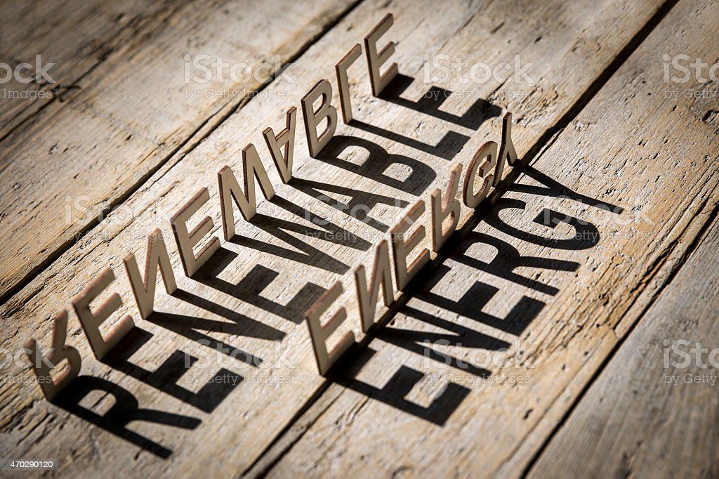 wooden letters build the word renewable energy stock photo more