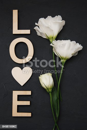 istock Wooden letters LOVE on a wooden background 849816962