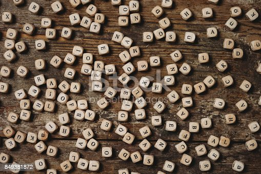 istock Wooden letters on a table 849381872
