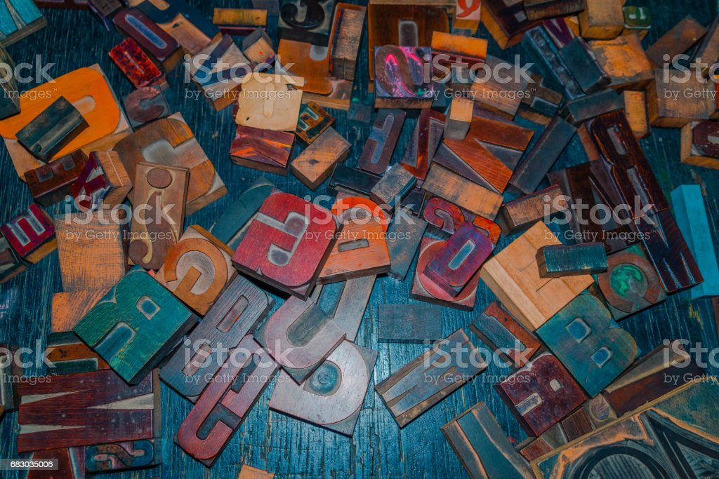 wooden letters on the table designer foto de stock royalty-free