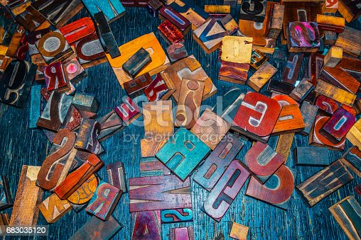 683035640 istock photo wooden letters on the table designer 683035120
