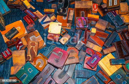 683035640 istock photo wooden letters on the table designer 683035180