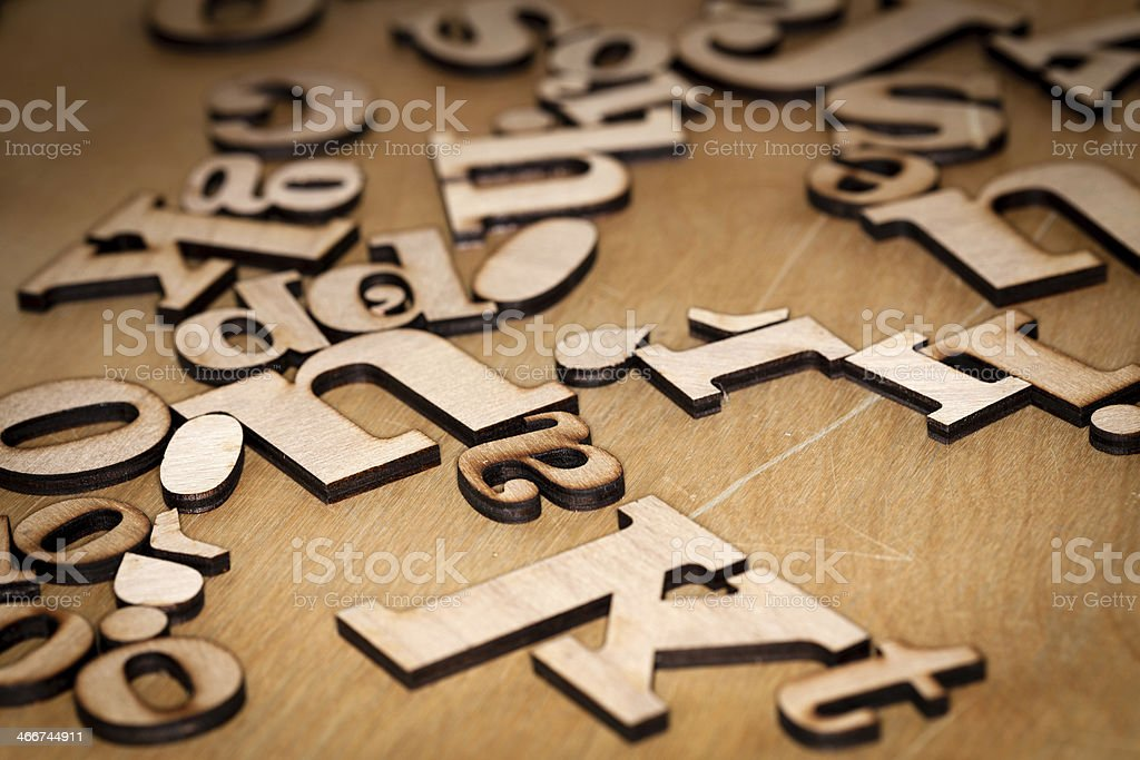 Wooden letters stock photo