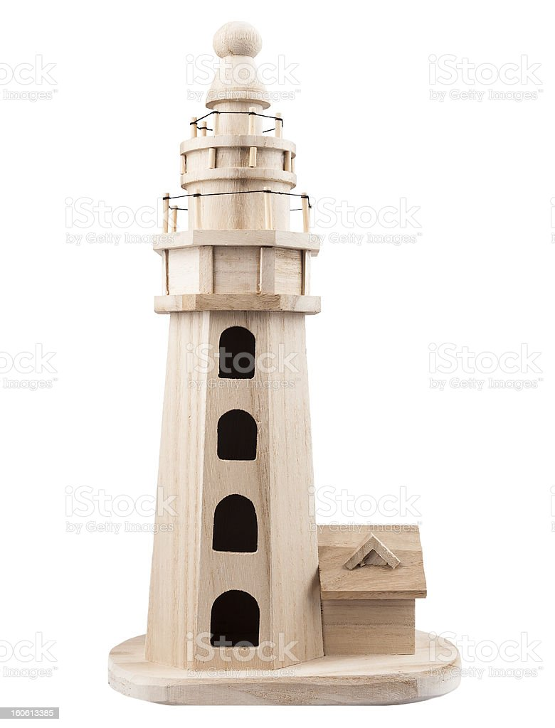 Wooden lighthouse royalty-free stock photo