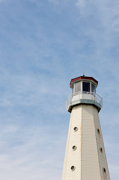 Wooden Lighthouse Tower stock photo