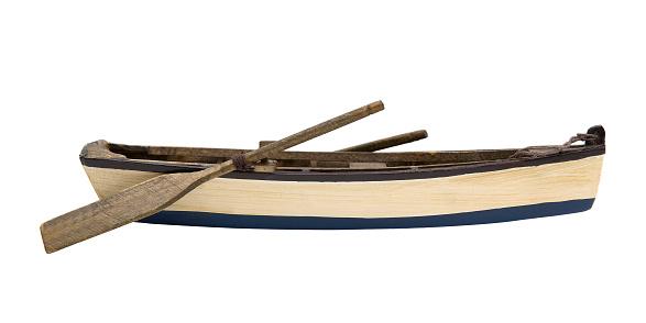 Wooden little boat