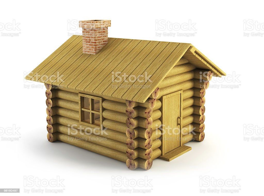 wooden log-house royalty-free stock photo