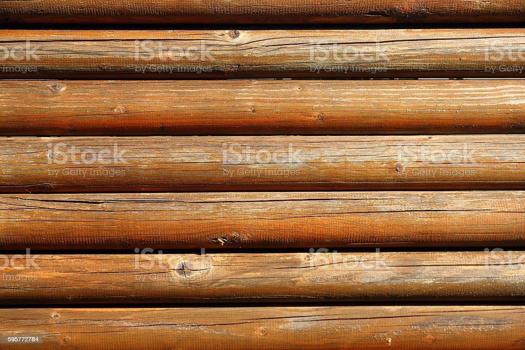 wooden logs fence stock photo