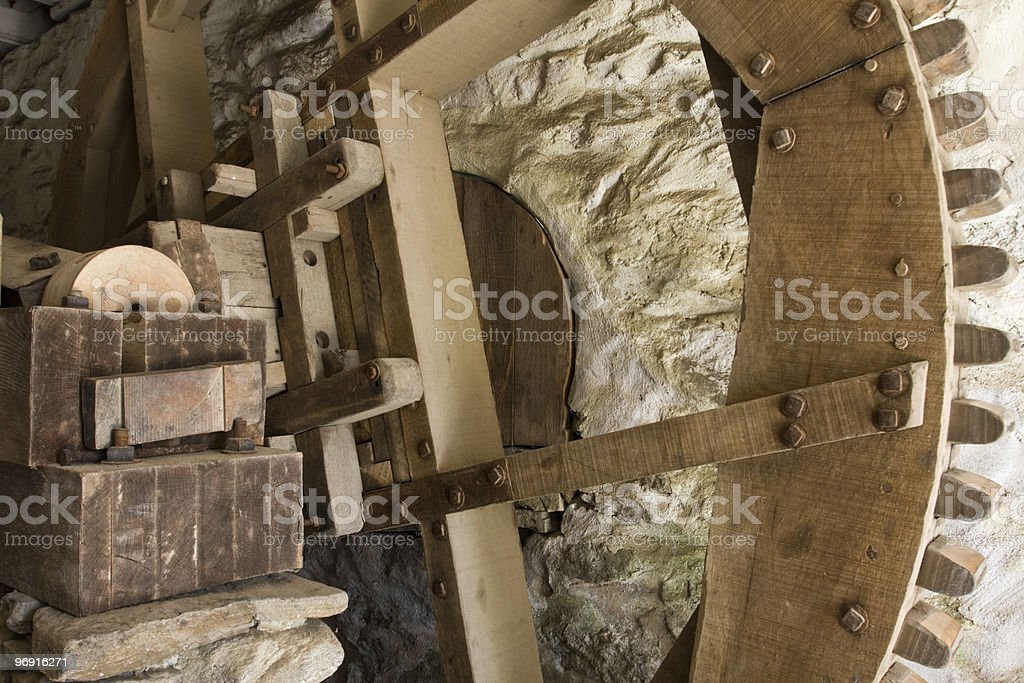 Wooden machinery royalty-free stock photo