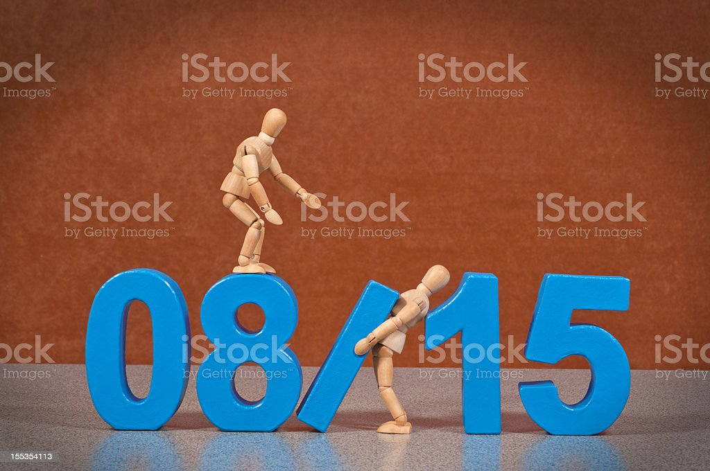 08/15 - Wooden Mannequin demonstrating this word stock photo