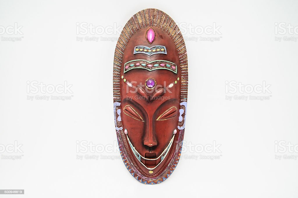 Wooden mask stock photo
