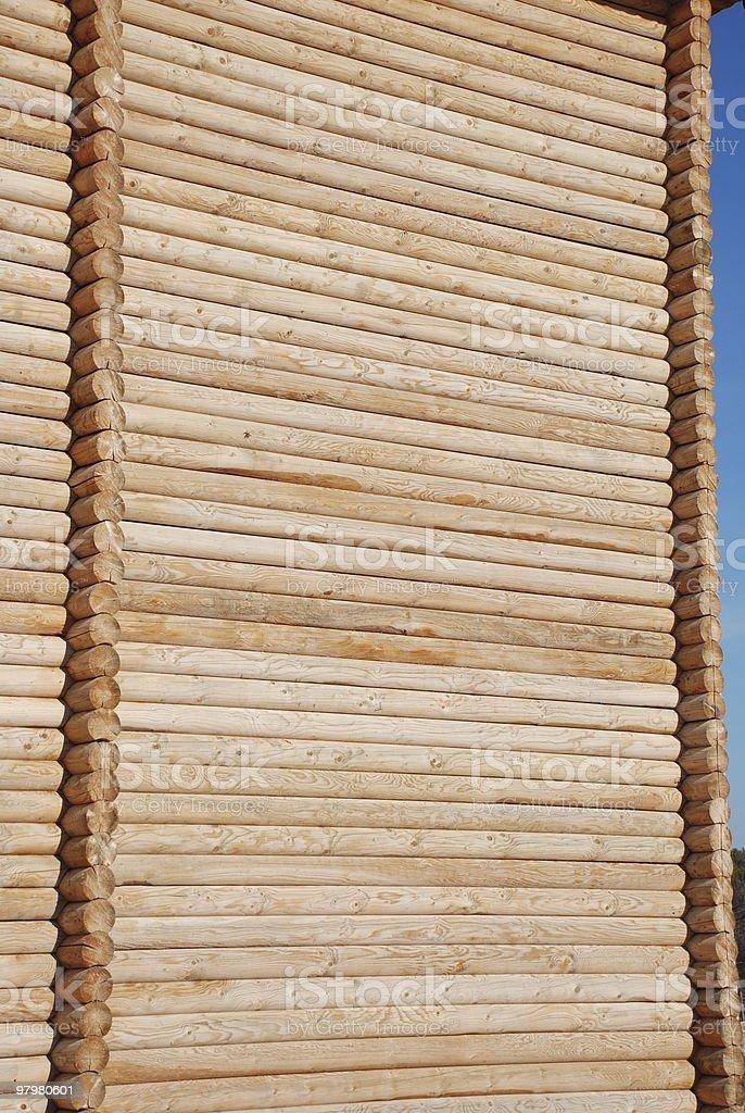 wooden masonry of logs royalty-free stock photo