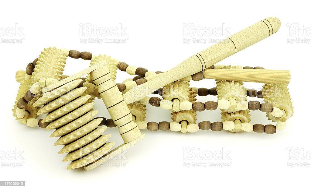 Wooden masseur royalty-free stock photo