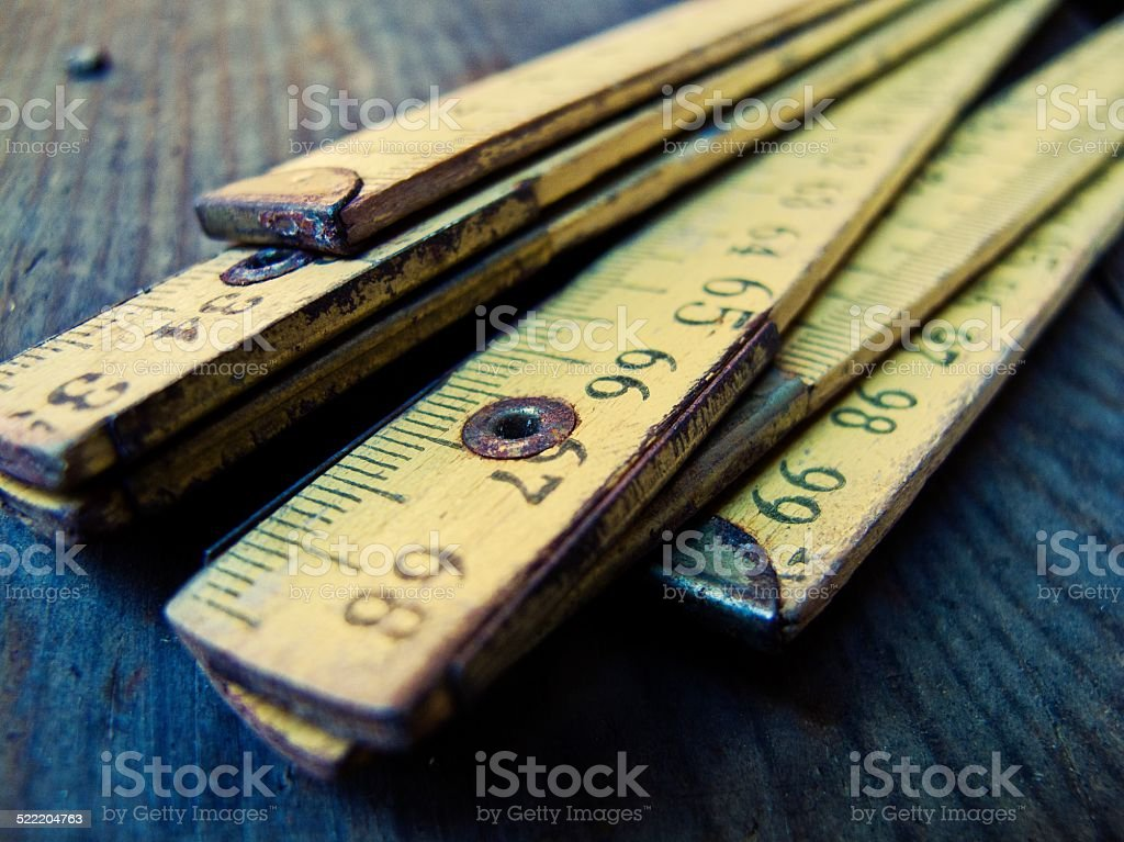 Wooden meter stock photo