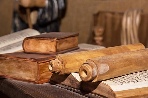 압살했다 축소회로 의 monastic 도서실도 스톡 사진