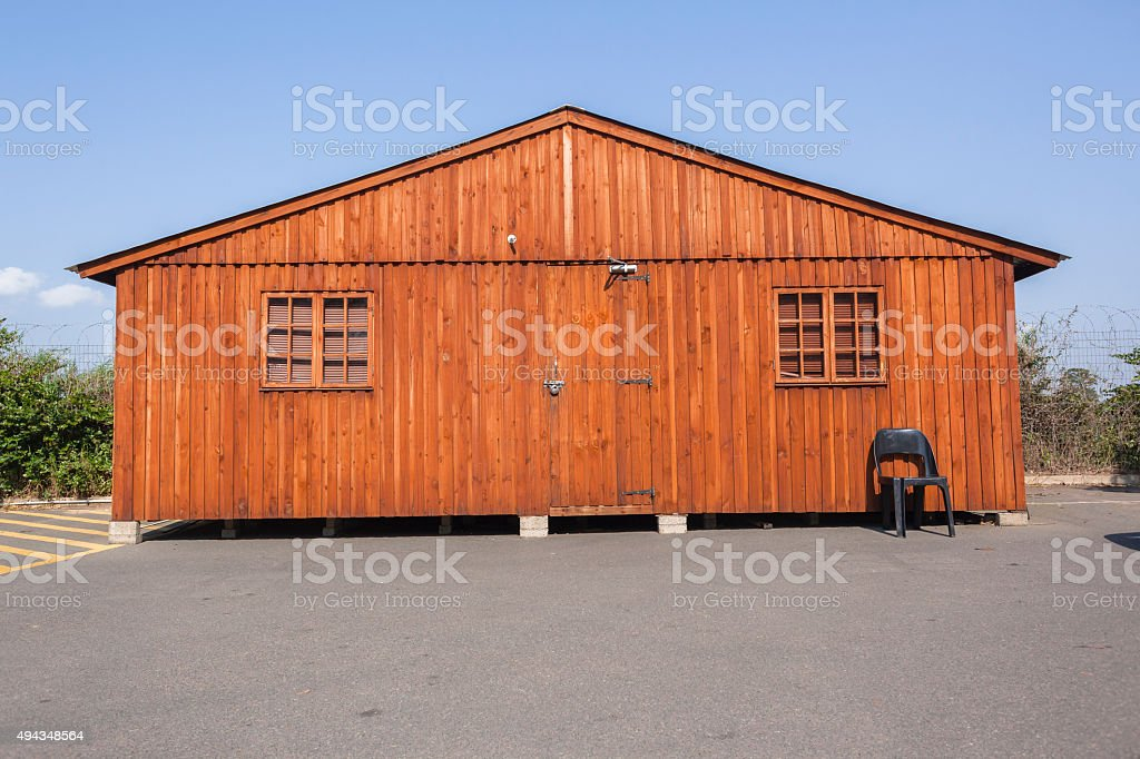 Wooden Mobile Cabin stock photo