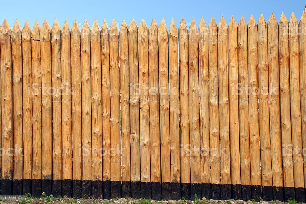Wooden paling stock photo