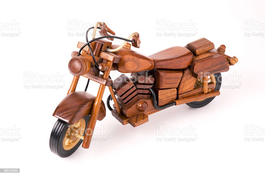 wooden motorcycle toy royalty-free stock photo