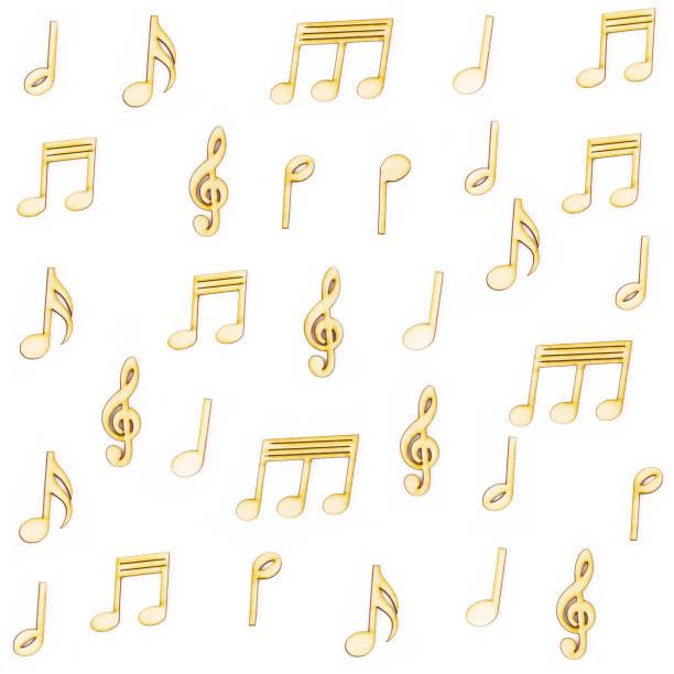 notas de música de madeira - desenhos de notas musicais - fotografias e filmes do acervo