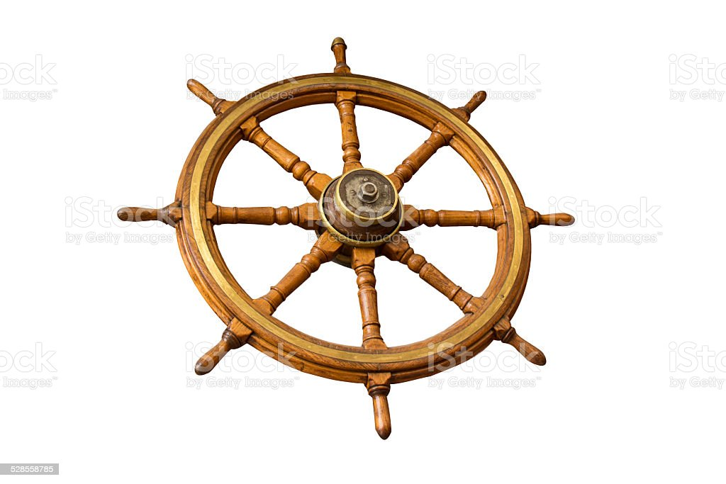 Wooden nautical stock photo