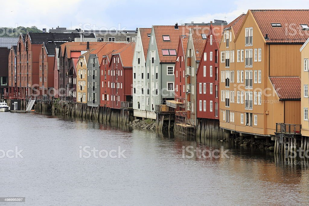 Wooden, Norwegian house royalty-free stock photo