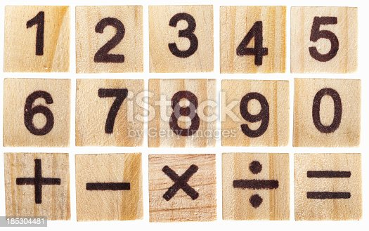 istock wooden number blocks 1 to 0 on white background 185304481