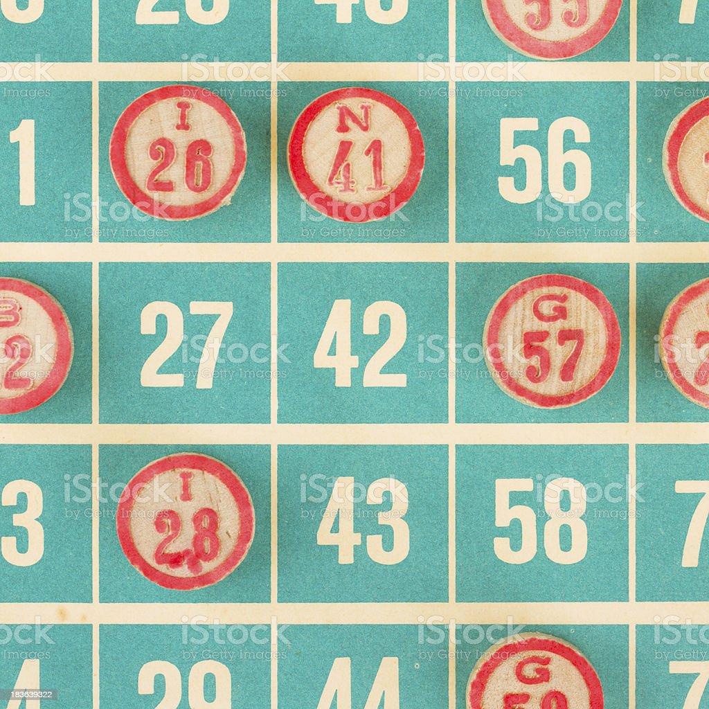 Números de madeira utilizado para bingo - foto de acervo