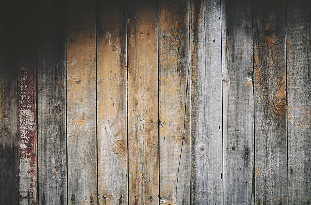 wooden old gray beige plank background - knotted wood stock pictures, royalty-free photos & images
