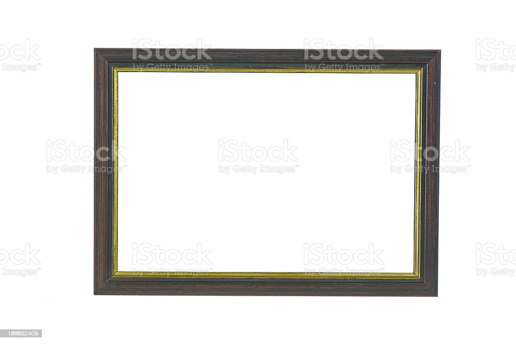 wooden old picture frame royalty-free stock photo
