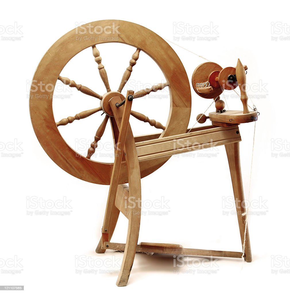 Wooden old spindle stock photo