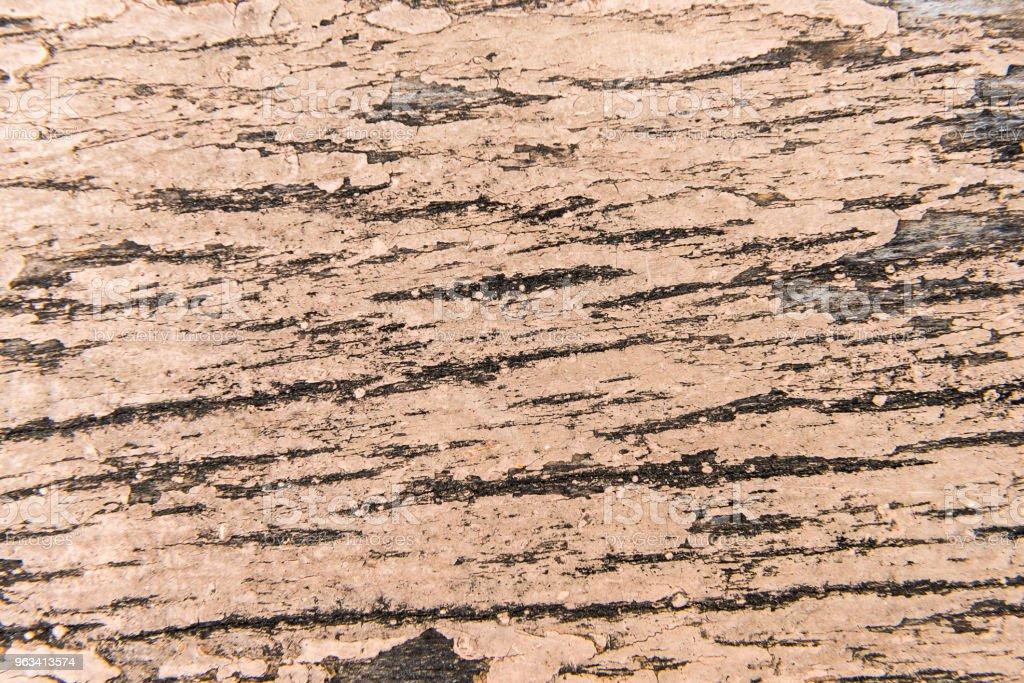 Surface ancienne en bois avec peinture fissuré - Photo de Bois de construction libre de droits