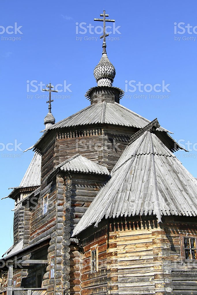 Wooden orthodox architecture royalty-free stock photo