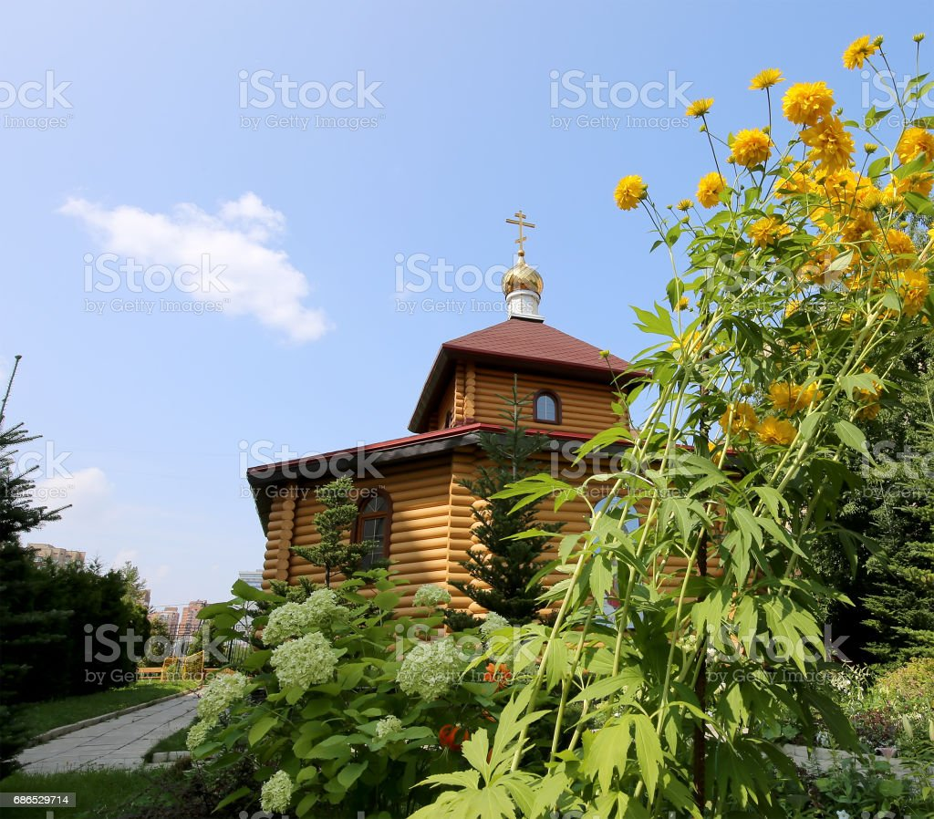 Wooden Orthodox church in Moscow, Russia foto stock royalty-free