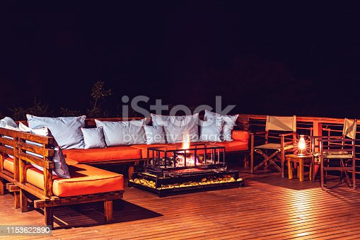 Africa, Holiday, Travel, Vacation - Wooden Deck of a Luxurious Resort in Africa