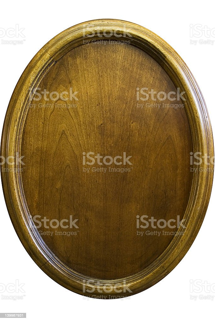 Wooden oval vernier - isolated royalty-free stock photo