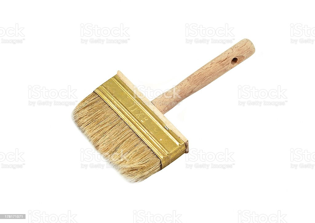 Wooden paint brush royalty-free stock photo