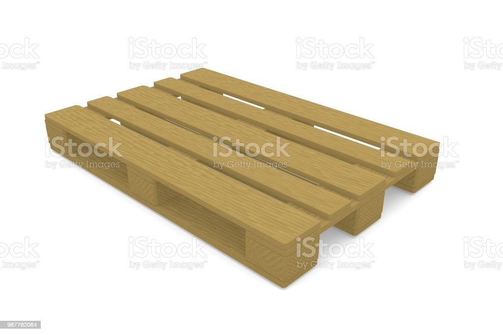 Wooden pallet on a white background. стоковое фото