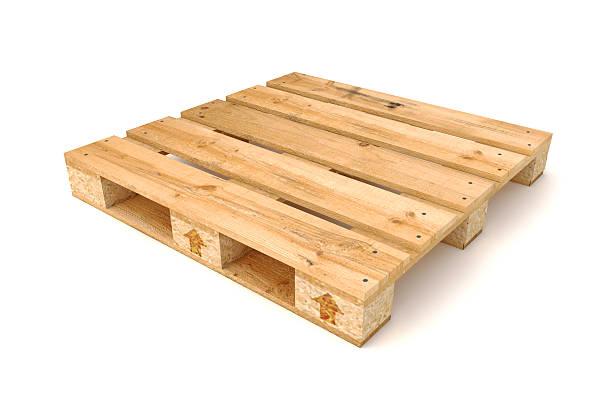 Wooden pallet. stock photo