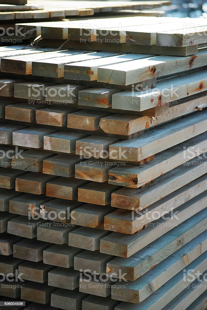 Wooden Panels At Warehouse stock photo