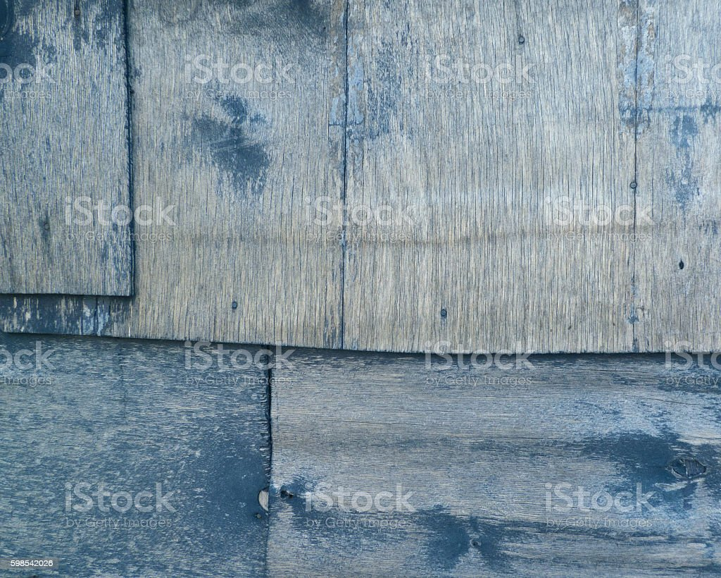 Wooden panels painted in navy blue. Retro texture. photo libre de droits