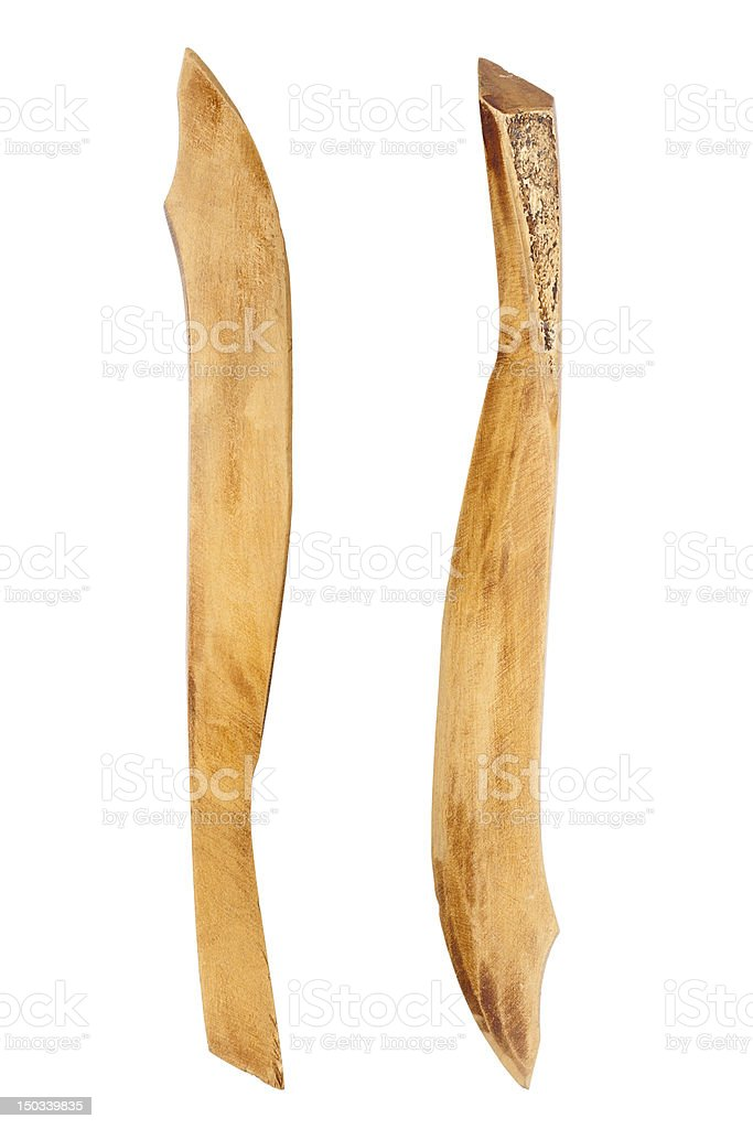 Wooden paper knife stock photo