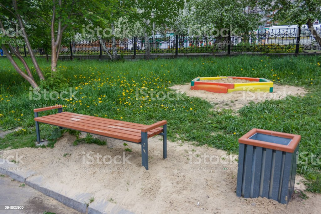 Surprising Wooden Park Bench At A Park Stock Photo Download Image Now Ibusinesslaw Wood Chair Design Ideas Ibusinesslaworg