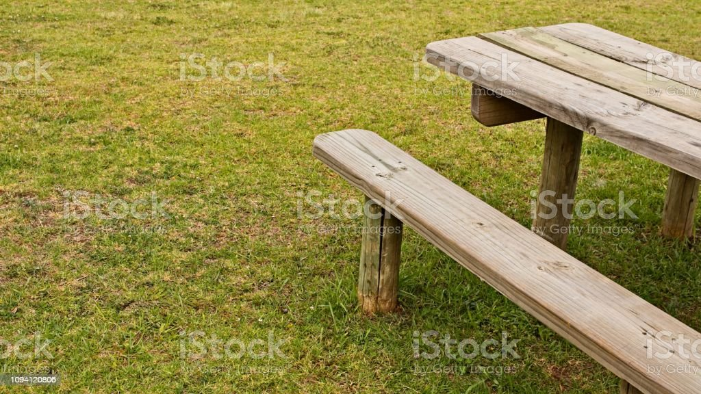 Peachy A Wooden Park Bench Outdoor Eating Or Picnic Concept Image Beatyapartments Chair Design Images Beatyapartmentscom