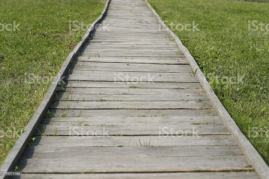 wooden path royalty-free stock photo