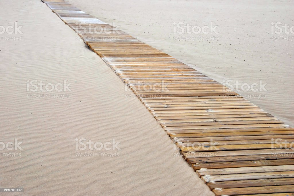 Wooden pathway foto stock royalty-free