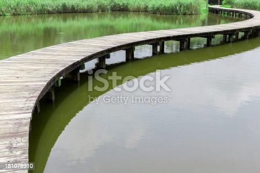 istock Wooden Pathway/Bridge in Lake 181078910